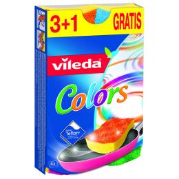 "Vileda губка ""Colors"", 3+1 шт"