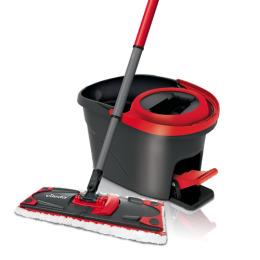 """Vileda набор для уборки """"Easy Wring Ultramat"""" швабра с телескопической ручкой+ведро педальным отжимом, 1 шт"""