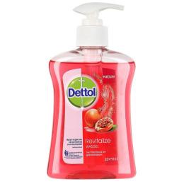 """Dettol жидкое мыло для рук """"Антибактериальное. Восстановление с экстрактами граната и малины"""""""