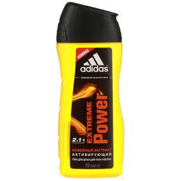 """Adidas гель для душа для тела и волос """"Extreme Power"""" 250мл + пробник шампунь"""