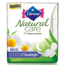 "Libresse прокладки ""Natural care"",  7 шт"