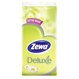 Zewa платки носовые делюкс 3-х слойные с ароматом ромашки, 1 шт
