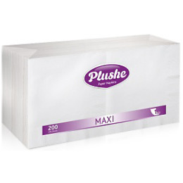 "Plushe салфетки ""Maxi. 200"" 1 слой"