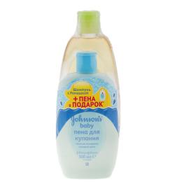 Johnson`s baby смотка шампунь 500 мл   пена для купания 500 мл в подарок