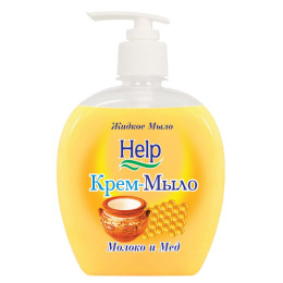 """Help крем-мыло """"Молоко и мед""""  с дозатором"""