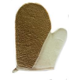 Чеширка мочалка № 51 рукавица лён