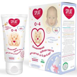 """Splat зубная паста для детей """"Baby. Ваниль"""" 0-3 лет + зубная щетка-напальчник, 40 мл"""