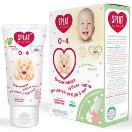 """Splat зубная паста для детей """"Baby. Яблоко-банан"""" 0-3 лет + зубная щетка-напальчник, 40 мл"""