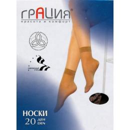 Грация носки 20 полиамид загар
