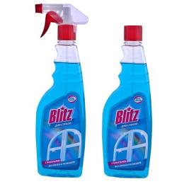Blitz средство для стекол и поверхностей курок 500 мл + средство для стекл с нашатырным спиртом запасной блок 500 мл