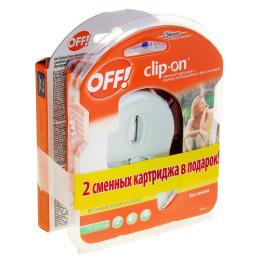 Off! прибор с фен-системой и сменным картриджем Clip-On 100 мл + комплет сменных картриджей 2 шт