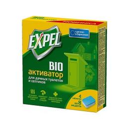 Expel биоактиватор для септиков в упаковке, 8 шт
