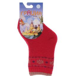 Грация носки детские Д 2304, красные
