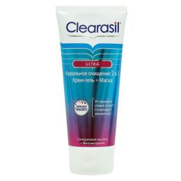 """Clearasil крем-гель + маска """"Ultra. Идеальное очищение""""  2 в 1"""