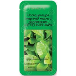 """Skinlite маска """"Зеленый чай"""" насыщающая энергией с коллагеном"""
