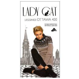 """Lady Cat колготки женские """"Leggings Ottawa"""" 420d, черные"""