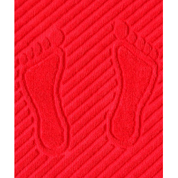 """Ituma коврик для ног """"Красный"""" махровый 50 х 70 см"""