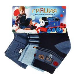 Грация носки детские Д 2408 3 пары, синие