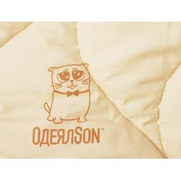 "Одеялson одеяло стеганое ""Кот"" бежевое, 200х220 см"