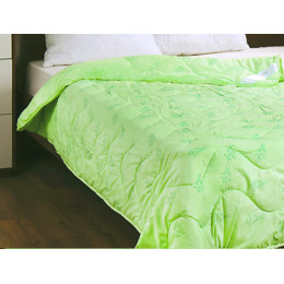 """Мягкий сон одеяло стеганое """"Бамбук"""" зеленое, 200*220 см"""