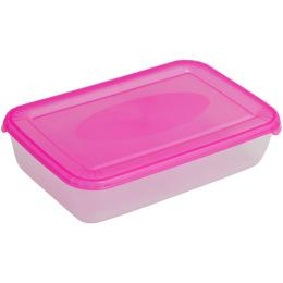 """Plast Team емкость для хранения пищевых продуктов """"Polar. Коралловая"""" квадратная"""