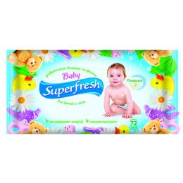 Superfresh влажные салфетки для детей и мам, 72 шт