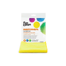Fun Clean салфетка универальная из микрофибры для уборки помещений 35 х 35 см