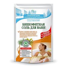 """Фитокосметик соль для ванн """"Бишофитная"""" для снижения веса"""