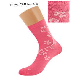 "Griff носки женские цветок по боку ""D263"", rosa antico"