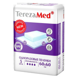 "Tereza пеленки одноразовые ""Super"" 60x60"