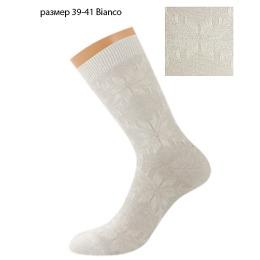 """Griff носки """"D9A8"""", орнамент """"Снежинка"""", bianco"""