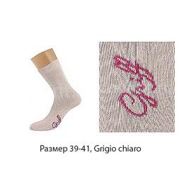 """Griff носки женские однотонные с логотипом на стопе """"D4O3"""", grigio chiaro"""
