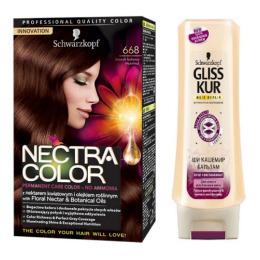 """Nectra Color краска для волос 668 """"Лесной орех"""" + GLISS KUR Бальзам """"Ши Кашемир"""" 200 мл"""