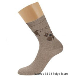 "Griff носки женские ""Donna D0C3"", собака, beige scuro"