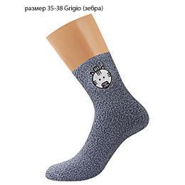 """Griff носки женские """"Donna D9N2"""", с аппликацией с ABS (зебра), grigio"""