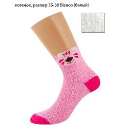 "Griff носки женские ""Donna D9N3"", игрушка с ABS (котенок), bianco"