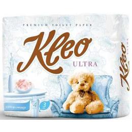 """Мягкий знак туалетная бумага """"Kleo. Ultra"""" белая 3х слойная"""