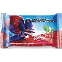 """Spider-man салфетки влажные """"Зеленый чай"""""""
