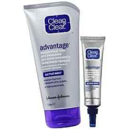 """Clean&Clear ежедневный гель для умывания """"Advantage. Быстрый эффект"""" для кожи склонной к появлению прыщей  150 мл, гель-аппликатор 15 мл спайка"""