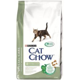 Cat Chow корм для стерилизованных и кастрированных кошек, 1.5 кг