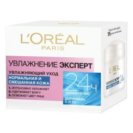 """L'Oreal крем для лица """"Увлажнение Эксперт"""" для нормальной и смешанной кожи, 50 мл"""
