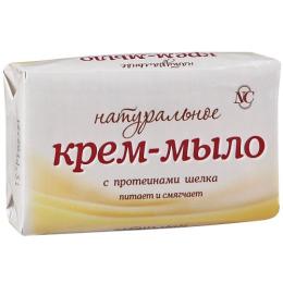 """Невская Косметика крем-мыло """"Натуральное"""" с протеинами шелка"""
