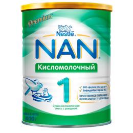NAN 1 Сухая кисломолочная смесь для детей с рождения, 400 г