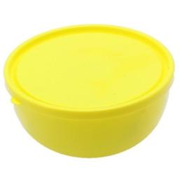 """Пластик центр салатник """"Galaxy"""" с крышкой лимон"""
