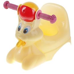 """Пластик центр горшок-игрушка """"Зайчик"""" желтый пастельный"""