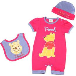 """Disney комплект одежды """"Винни 3. Розовый"""" предмета на вешалке"""