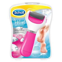 """Scholl электрическая роликовая пилка """"Velvet Smooth"""" с экстражестким роликом, розовая"""
