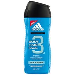 "Adidas гель для душа, шампунь и гель для умывания для мужчин ""Body-Hair-Face After Sport"""