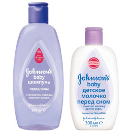 "Johnson`s baby шампунь ""Перед сном"" 300 мл + молочко ""Перед сном"" 300 мл"
