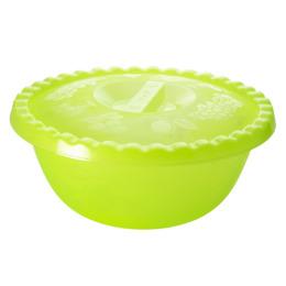 "Пластик центр миска ""Фазенда"" 3 л, с крышкой зеленая"